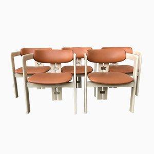 Italienische Mid-Century Pamplona Armlehnstühle von Augusto Savini für Pozzi, 1960er, 5er Set