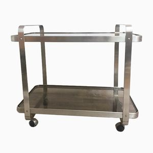 Glass & Stainless Steel Trolley, 1970s