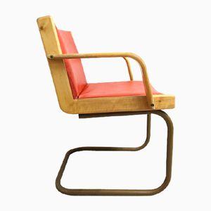 Chaise à Socle Traîneau Bauhaus, 1940s