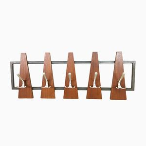 Scandinavian Wall Coat Rack, 1960s