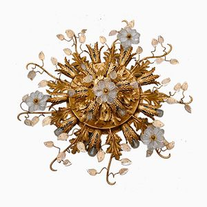 Vintage Florentine Ceiling Light from Banci Firenze