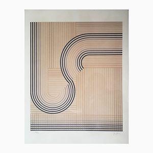 Serigrafia Op art di Eusebio Sempere, 1974