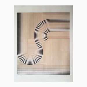 Sérigraphie Op-art par Eusebio Sempere, 1974