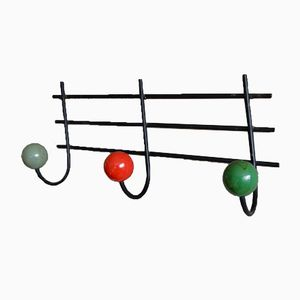 Vintage Coat Rack with Ball Hooks, 1950s