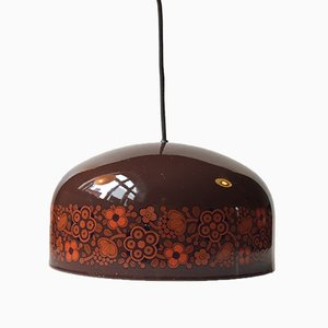 Vintage Enamel Pendant Lamp by Kaj Franck for Fog & Mørup, 1970s