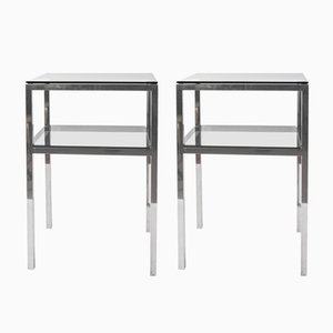 Mid-Century Two-Tiered Accent Tables, 1970s, Set of 2
