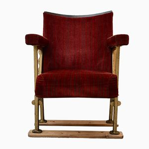 Vintage Red Folding Cinema Seat