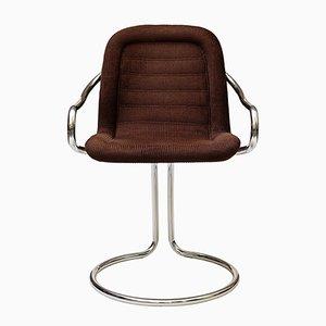 Vintage Tubular Corduroy Side Chair, 1970s