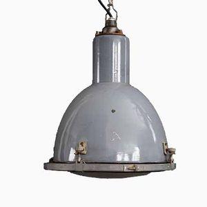 Russian Enamelled Factory Light, 1950s