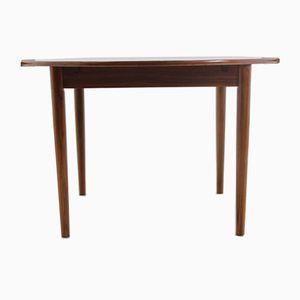 Danish Teak Round Extendable Table, 1960s