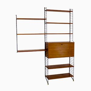 Vintage Teak Wall Unit by Katja & Nisse Strinning for String, 1949