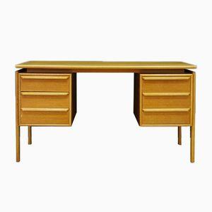 Vintage Eschenholt Furnier Schreibtisch von GV Møbler