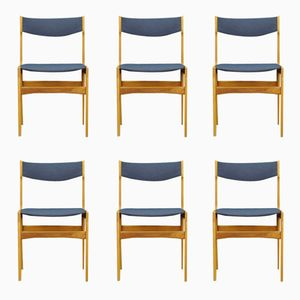 Vintage Scandinavian Ash Veneer Chairs, Set of 6