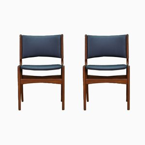 Danish Vintage Chairs in Teak by Johannes Andersen for Uldum Møbelfabrik, Set of 2