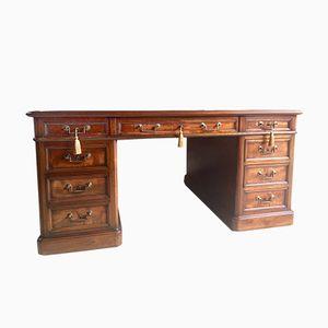 Mahogany Partner's Desk, 1970s