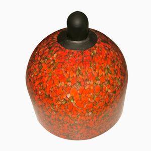 Lampada a sospensione vintage a cupola in vetro di Murano a chiazze