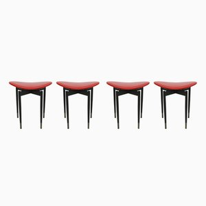 Lutrario Stools by Carlo Mollino, 1959, Set of 4
