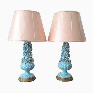 Vintage Manises Keramik Lampen, 1960er, 2er Set