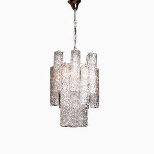 Murano Glas Kronleuchter von Toni Zuccheri, 1960er