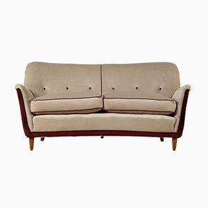 Sofa mit Bezug aus Samt, 1950er