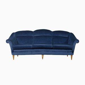 Sofa mit Samt bezogen, 1950er