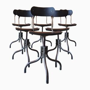 Industrial Chairs from Tan Sad Chair Co., 1930s, Set of 6