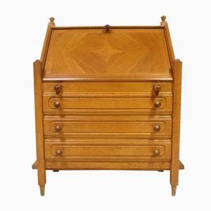 Secretaire vintage in quercia di Guillerme & Chambron per Votre Maison