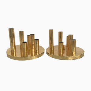 Brass Wall Lamps by Gaetano Sciolari, 1970s, Set of 2