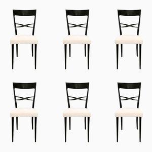 Chaises de Salon Mid-Century par Melchiorre Bega, Set de 6