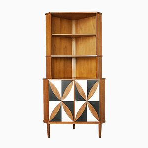 Danish Teak Veneered Corner Cabinet 1960s