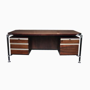 Rosewood Executive Desk by Luisa and Ico Parisi for MIM Rome, 1950s
