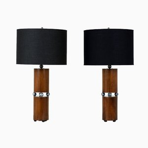 Mid-Century Modern Table Lamps, Set of 2
