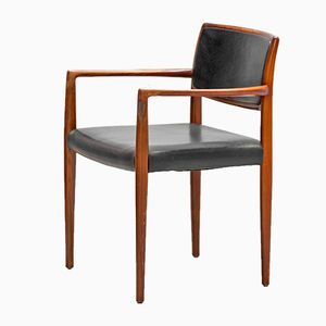 Danish Modern Rosewood Armchair, 1960s