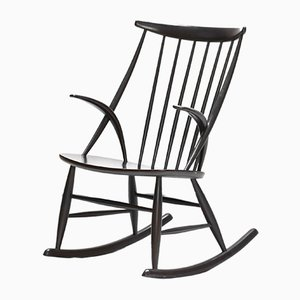 Danish Modern Number 3 Rocking Chair by Illum Wikkelso for Niels Eilersen, 1960s