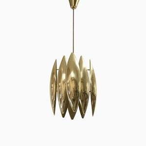 Model Kastor Mid-Century Ceiling Light in Brass by Jo Hammerborg for Fog & Mørup