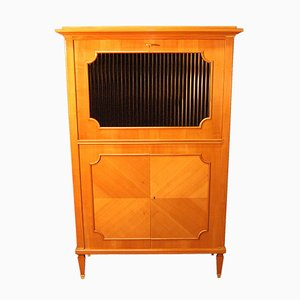 Vintage French Cherrywood Secretaire, 1940s