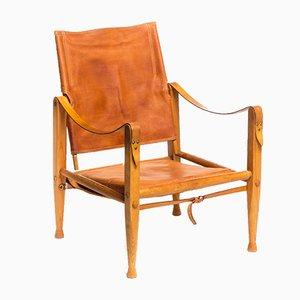 Chaise Safari Vintage en Cuir par Kaare Klint pour Rud. Rasmussen