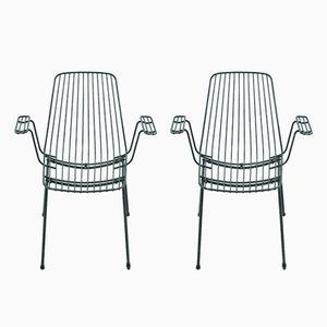 Mid-Century Black Garden Chairs, 1960s, Set of 2