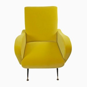Mid-Century Yellow Lounge Chair, 1950s