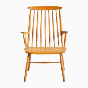Vintage Eichenholz Stuhl, 1960er