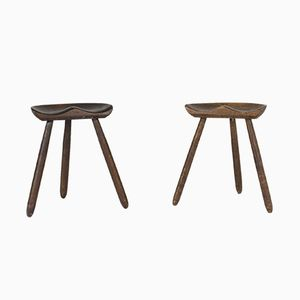 Swedish Stools, 1940s, Set of 2