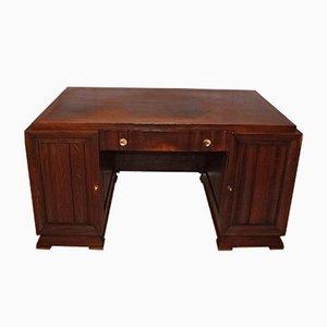 Art Deco French Oak Desk, 1940s