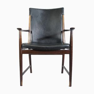 Vintage Mahogany and Leather Armchair