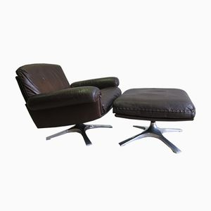 DS 31 Swivel Chair & Ottoman from de Sede, 1963