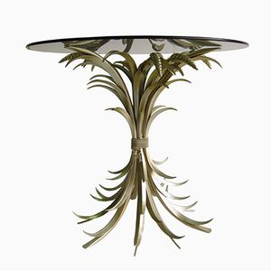 Wheat Gilded Side Table, 1960s