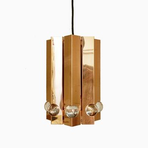 Polished Copper Pendant Light by Gebrüder Cosack, 1960s