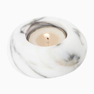 Weißer Carrara Marmor Kerzenständer von FiammettaV Home Collection