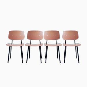 Revolt Dining Chairs by Friso Kramer for Ahrend De Cirkel, 1950s, Set of 4