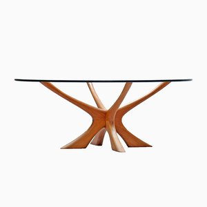 Danish Modern Teak & Glass Coffee Table by Illum Wikkelso for Søren Willadsen, 1960s