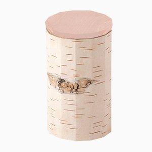 Plain Tuesa Container with Beige Lid by Anastasiya Koshcheeva for Moya